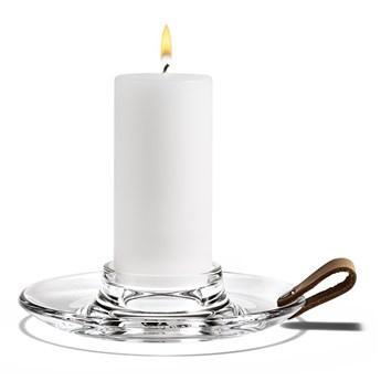 Świecznik ze szkła Ø17cm, Holmegaard