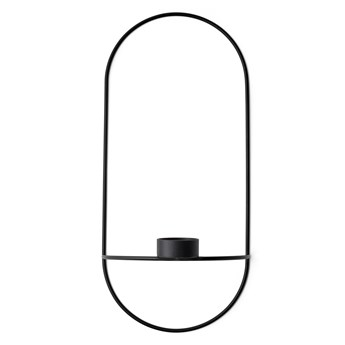 Świecznik ścienny POV Oval tealight, czarny, Menu