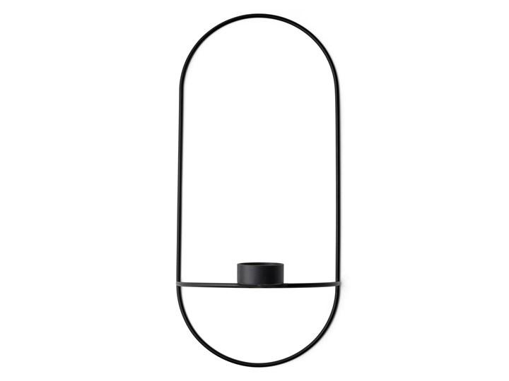 Świecznik ścienny POV Oval tealight, czarny, Menu Metal Stal Kategoria Świeczniki i świece