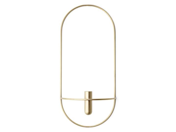 Wazon ścienny / świecznik POV Oval, mosiądz, Menu Stal Metal Kategoria Świeczniki i świece