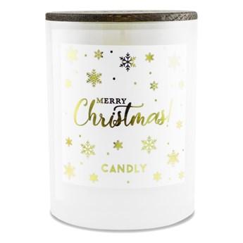 Świeca zapachowa pomarańcza i goździki, Merry Christmas, Candly