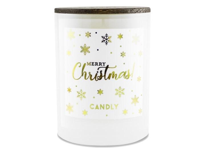 Świeca zapachowa pomarańcza i goździki, Merry Christmas, Candly Szkło Kolor Pomarańczowy