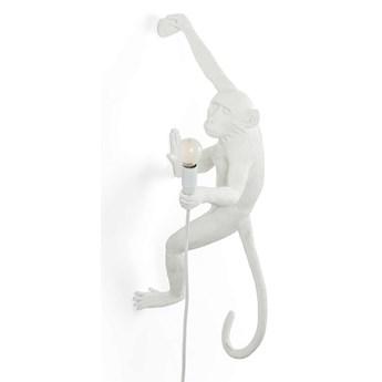 Lampa ścienna Monkey Hanging Right zewnętrzna, biały, Seletti