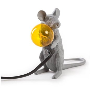 Lampa stołowa Mouse Mac, szary, Seletti