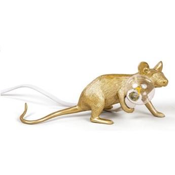 Lampa stołowa Mouse Lop, złoty kabel biały, Seletti