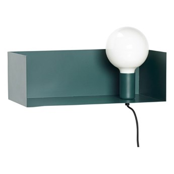 Lampa ścienna / półka  żarówka, zielony, Hübsch