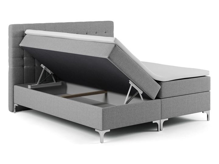 SELSEY Łóżko kontynentalne z pojemnikiem Rigil Metal Kategoria Łóżka do sypialni Łóżko pikowane Kolor Czarny