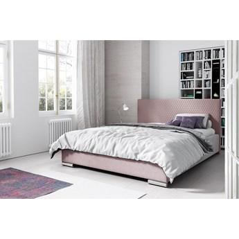 Łóżko tapicerowane CAMPO : Powierzchnia spania łóżka - 180x200cm, Wybierz tkaninę  - Pudrowy Róż Riviera 62