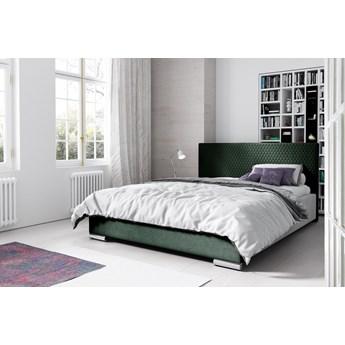 Łóżko tapicerowane CAMPO : Powierzchnia spania łóżka - 140x200cm, Wybierz tkaninę  - Butelkowa Zieleń Riviera 38