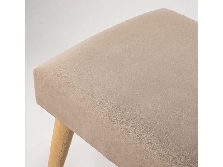 Ławka tapicerowana Retrovidens Latte Styl Vintage Materiał obicia Skóra ekologiczna