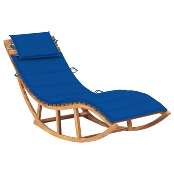 Drewniany niebieski leżak ogrodowy na biegunach - Afis 3X