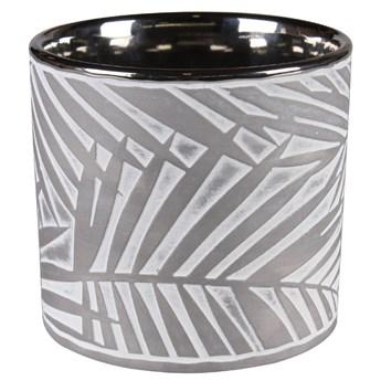 SELSEY Osłonka na doniczkęJarl ceramiczna 12,5 cm szara
