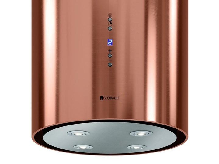Okap kuchenny Asterio Isola 39.1 Miedź Okap przyścienny Sterowanie Elektroniczne Okap wyspowy Poziom hałasu 43 dB