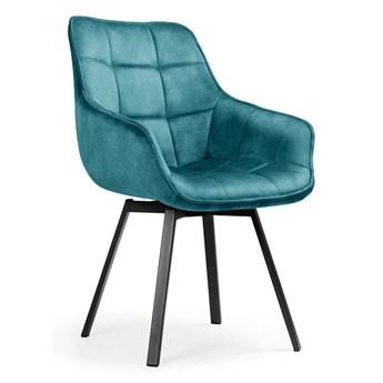 Obrotowe krzesło turkusowy aksamit / Olson