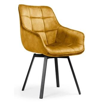 Obrotowe krzesło zółty aksamit / Olson