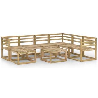vidaXL 8-cz. zestaw wypoczynkowy do ogrodu, impregnowane drewno