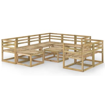 vidaXL 10-cz. zestaw wypoczynkowy do ogrodu, impregnowane drewno