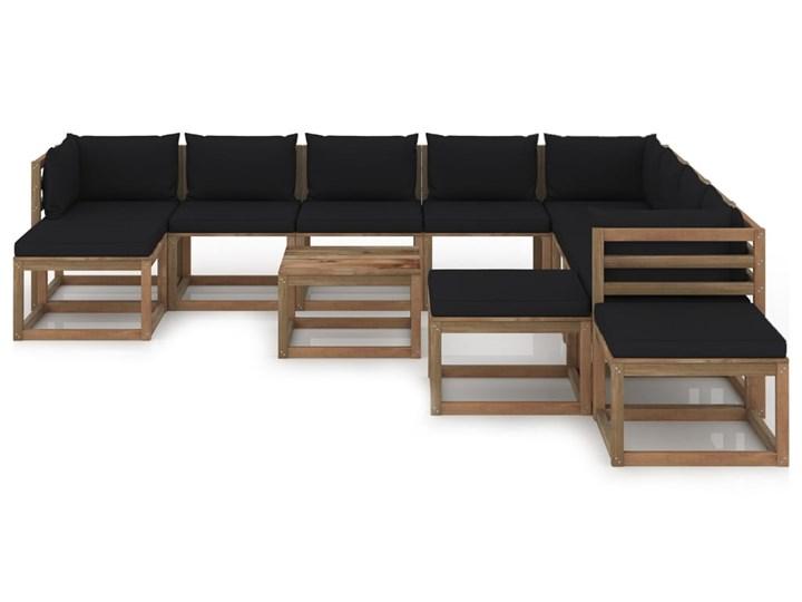 vidaXL 12-cz. zestaw wypoczynkowy do ogrodu, z poduszkami, czarny Zestawy modułowe Zestawy wypoczynkowe Kategoria Zestawy mebli ogrodowych