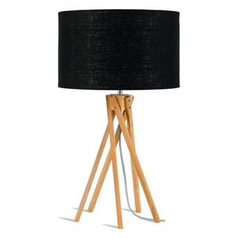 Lampa stołowa Kilimanjaro, bambus abażur czarny, Good and Mojo