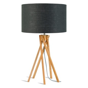 Lampa stołowa Kilimanjaro, bambus abażur ciemnoszary, Good and Mojo