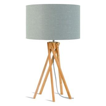 Lampa stołowa Kilimanjaro, bambus abażur jasnoszary, Good and Mojo