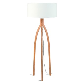 Lampa podłogowa Annapurna, bambus abażur biały, Good and Mojo