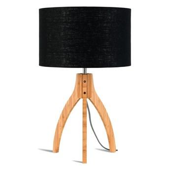Lampa stołowa Annapurna, bambus abażur czarny, Good and Mojo