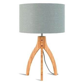 Lampa stołowa Annapurna, bambus abażur jasnoszary, Good and Mojo