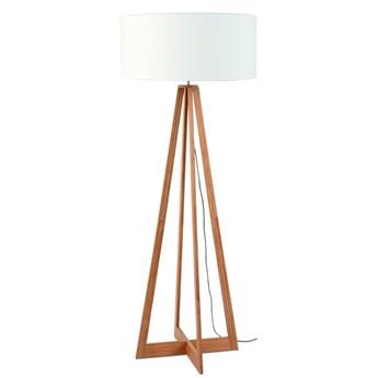 Lampa podłogowa Everest, bambus abażur biały, Good and Mojo