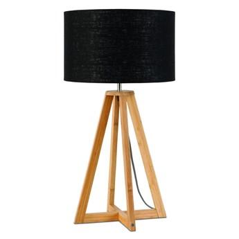 Lampa stołowa Everest, bambus abażur czarny, Good and Mojo