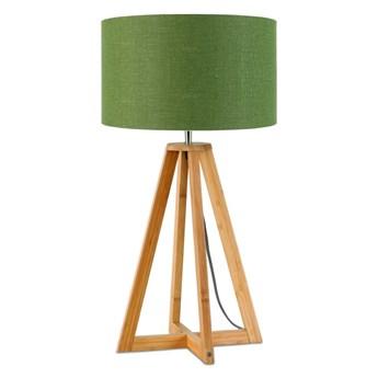 Lampa stołowa Everest, bambus abażur zielony, Good and Mojo