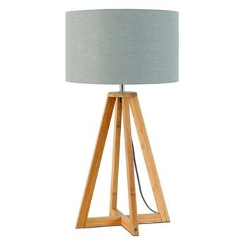 Lampa stołowa Everest, bambus abażur jasnoszary, Good and Mojo
