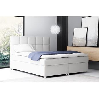 łóżko kontynentalne NAPOLI : Powierzchnia spania łóżka - 160x200cm, Wybierz tkaninę  - Ekoskóra Madryt 128