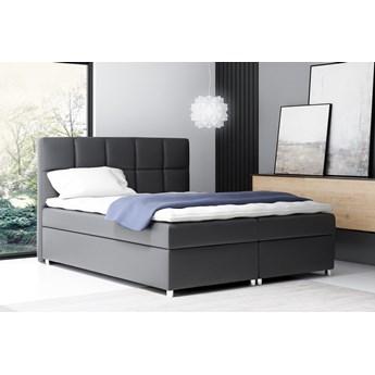 łóżko kontynentalne NAPOLI : Powierzchnia spania łóżka - 160x200cm, Wybierz tkaninę  - Ekoskóra Madryt 1100