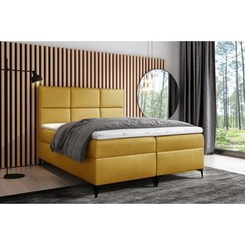 łóżko kontynentalne FAVA : Powierzchnia spania łóżka - 140x200cm, Wybierz tkaninę  - Fancy 48