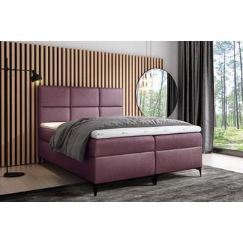 łóżko kontynentalne FAVA : Powierzchnia spania łóżka - 160x200cm, Wybierz tkaninę  - Fancy 63