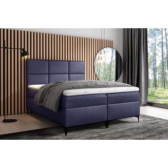 łóżko kontynentalne FAVA : Powierzchnia spania łóżka - 140x200cm, Wybierz tkaninę  - Fancy 79