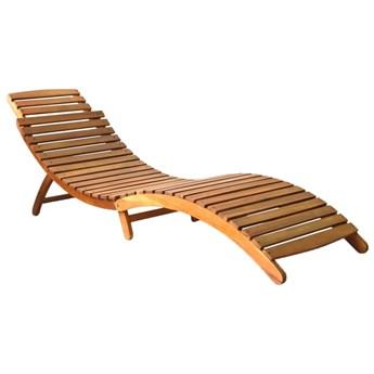 Leżak, lite drewno akacjowe, brązowy