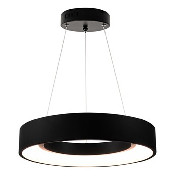 LAMPA wisząca BODO 307460 Il mio okrągła OPRAWA LED 20W 3000K metalowy zwis ring czarny