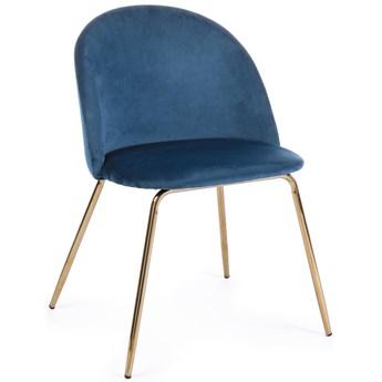 Krzesło Tanya 44x86 cm niebieskie
