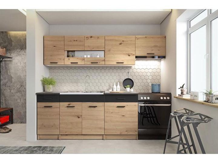 Zestaw mebli kuchennych dąb artisan - Fidea Kategoria Zestawy mebli kuchennych Kolor Beżowy