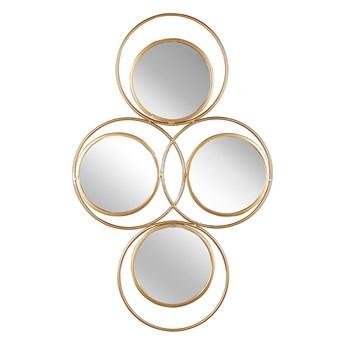 Lustro ścienne wiszące złote 50 x 80 cm 4 częściowe ozdoba ścienna wisząca nowoczesne glamour