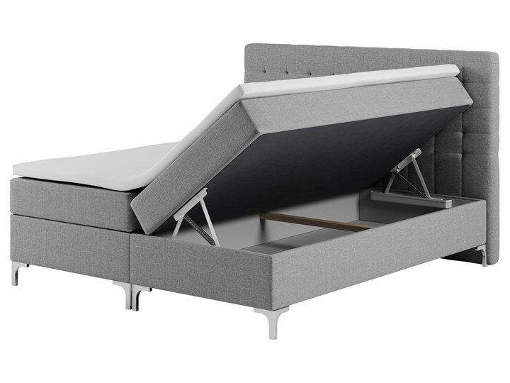SELSEY Łóżko kontynentalne z pojemnikiem Rigil Łóżko pikowane Metal Kategoria Łóżka do sypialni
