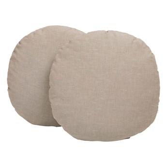 Okrągła poduszka z lnu Malilla