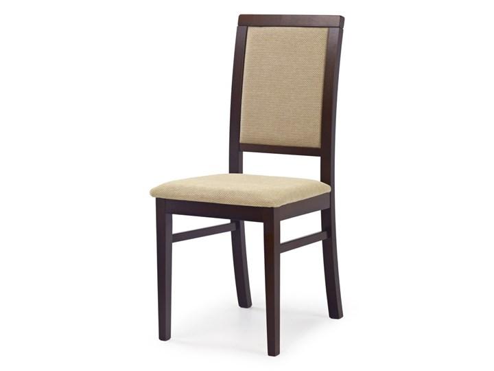 SELSEY Krzesło tapicerowane Buroli ciemny orzech Tkanina Drewno Styl Klasyczny