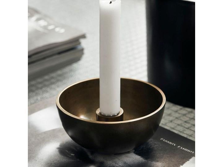 House Doctor - Świecznik Crown Antique Brass Metal Aluminium Świeca Kategoria Świeczniki i świece
