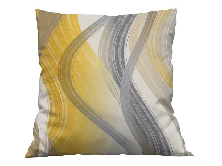Poszewka na poduszke Fale żółto szare
