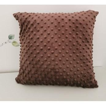 Poszewka na poduszkę MINKY kolor brązowy  40x40
