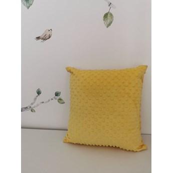 Poszewka na poduszkę MINKY kolor żółty 40x40