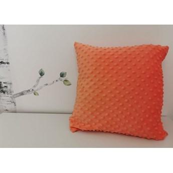 Poszewka na poduszkę MINKY kolor pomarańczowy 40x40